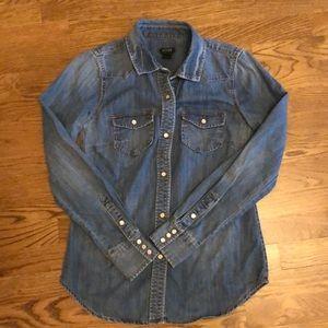 J. Crew Chambray Jean shirt
